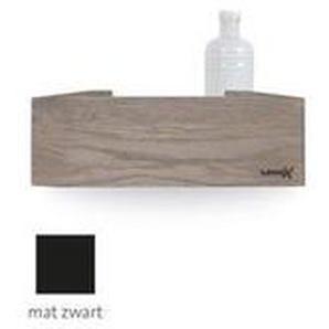 Looox Wooden Collection Rangement Salle de bains 30cm noir mat avec fond noir mat wshbox30mz