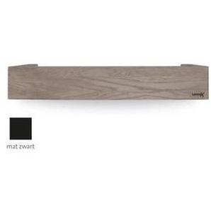 Looox Wooden Collection Rangement Salle de bains 60cm chêne mat noir avec fond mat noir wshbox60mz
