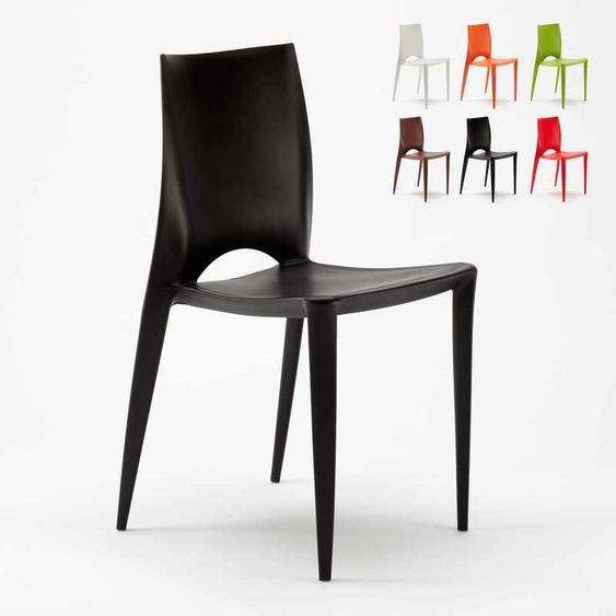 Lot 20 Chaises Colorées Design Moderne Hôtel Bar Restaurant Extérieur Color | Noir - AHD AMAZING HOME DESIGN