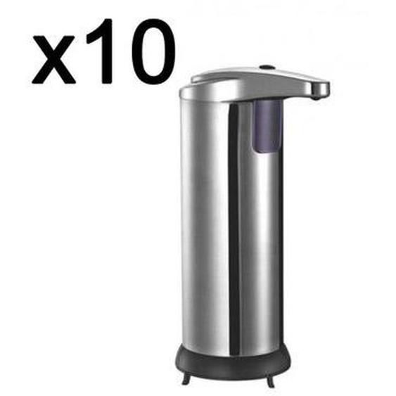 Lot de 10 Distributeur automatique de savon liquide désinfectant avec capteur intelligent de mouvement 300ml CLEANY sans contact