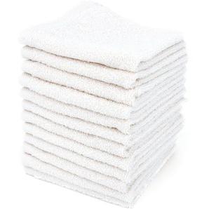 Lot de 12 serviettes invité 30x30 cm ALPHA blanc