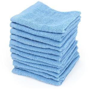 Lot de 12 serviettes invité 30x30 cm ALPHA bleu Ciel