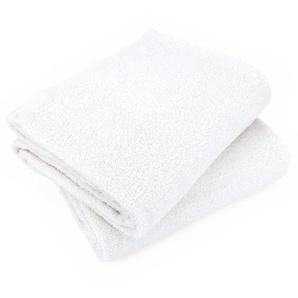 Lot de 2 draps de bain 90x150 cm ALPHA blanc