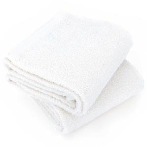 Lot de 2 draps de douche 70x130 cm ALPHA blanc