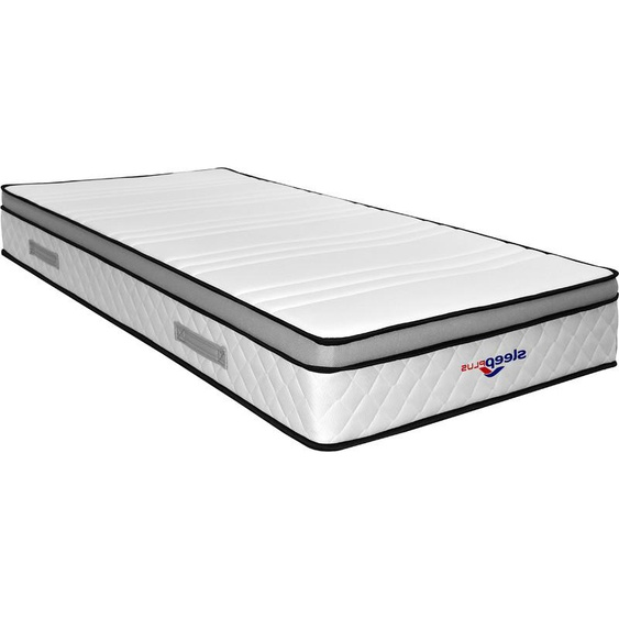 King Of Dreams - Lot de 2 Matelas marie a Ressorts + 3 cm Latex Naturel à 70 % en 75 Kg/m3 + 2 Aleses 80x190 Hauteur +/- 25 cm - Accueil Ferme - Soutien Ferme + 2 Oreillers Visco - 5 Zones de Confort - Hypoallergenique