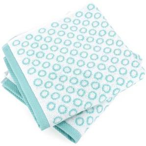 Lot de 2 serviettes de toilette 50x100 cm GRAPHIC CIRCLE bleu