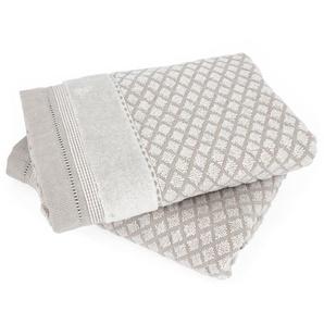Lot de 2 serviettes de toilette 50x100 cm LINEN beige