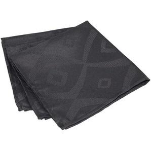 Lot de 3 serviettes de table 45x45 cm Jacquard 100% polyester BRUNCH anthracite
