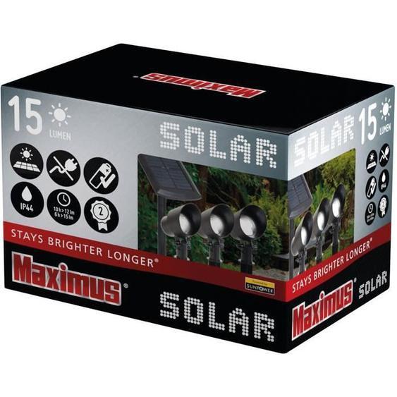 Lot de 3 spots solaires maximus 3x15 lumens