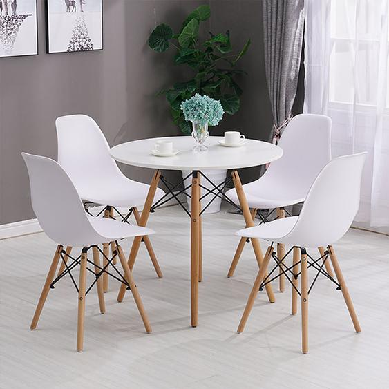 Lot de 4 Chaise de salle à manger design scandinave 41 x 46 x 82 cm blanc - Blanc - OOBEST