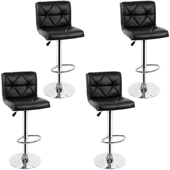 LOT DE 4 NOIR Chaises de Bar Chaises en Similicuir R�glable et Adjustable pour Bar - OOBEST
