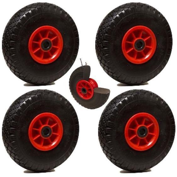 LOT de 4x roue increvable diable 260 x 85 (3.00-4) alésage 20 mm roulement à rouleaux - 2GT
