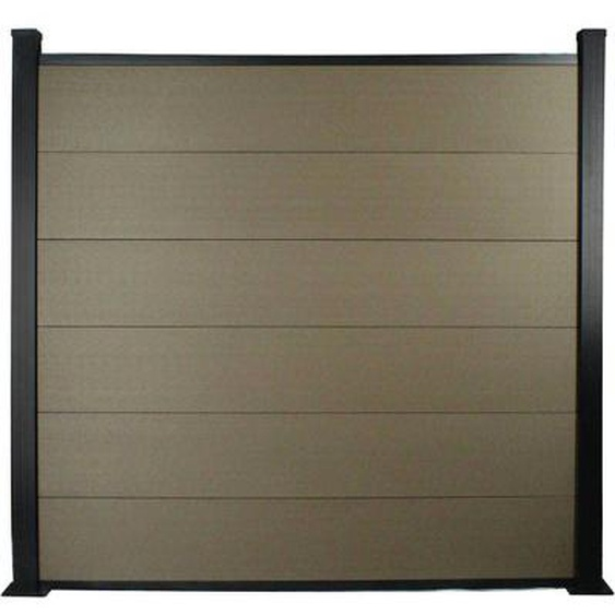 Lot de 6 lames de clôture L 160cm x 20cm  en composite + 2 profilés - Terracotta