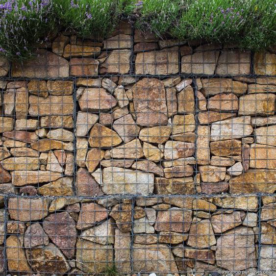 Lot de 6 Paniers de Gabions Argentés en Acier Galvanisé pour Projets dAménagement Extérieur, Murs de Soutènement, Clôture de Jardin. 100 x 95 x 30cm - Argent - MONSTER-SHOP