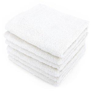 Lot de 6 serviettes invité 30x50 cm ALPHA blanc