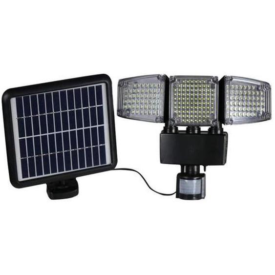 LUMI JARDIN Projecteur solaire Blackburn - 3 têtes - H 23 cm - Noir
