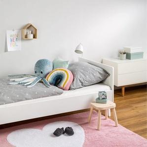 Tapis lavables pour enfants Bambini Heart Rose 120x160 cm - Tapis lavable pour chambre denfants/bébé