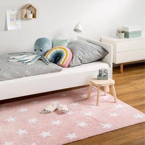 Tapis lavables pour enfants Bambini Stars Rose 120x180 cm - Tapis lavable pour chambre denfants/bébé