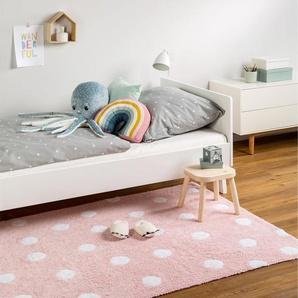 Tapis lavables pour enfants Bambini Dots Rose 120x180 cm - Tapis lavable pour chambre denfants/bébé