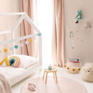 Lytte Tapis lavables pour enfants Tilda Rose ø 120 cm rond - Tapis pour chambre denfants/bébé