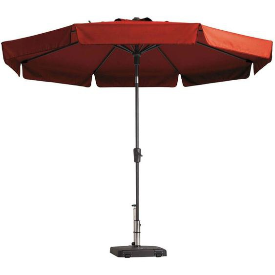 Madison Parasol Flores 300 cm Rond Rouge brique