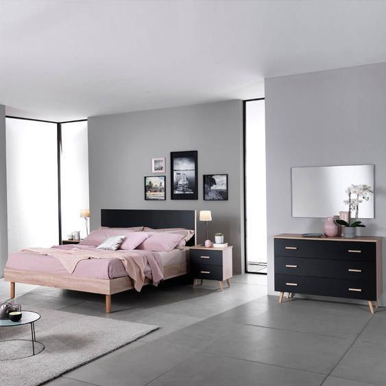 MAELYS - Chambre avec Lit 160x200cm et Commode
