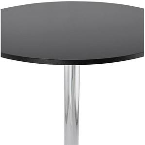 Mange-debout / table haute SANTIAGO noire - Ø 90 cm