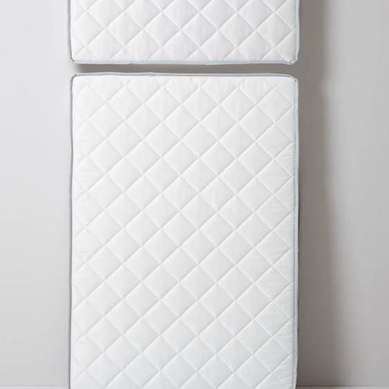 Matelas anti-acarien traité Bi-ome® spécial lit évolutif blanc