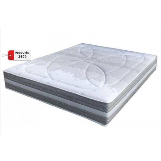 Matelas Essenzia SPRING 2600 Ferme COTON ORGANIQUE 90x200 Ressorts - Blanc