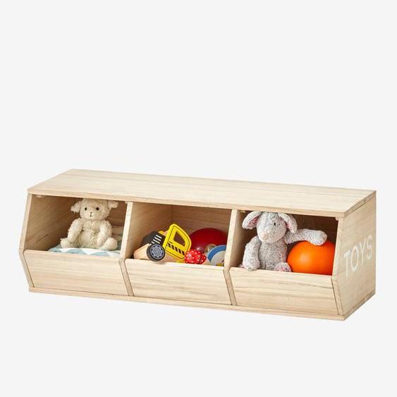 Meuble 3 bacs Toys bois