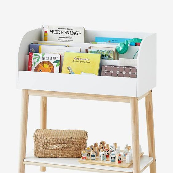 Meuble casier-bibliothèque LIGNE CONFETTI blanc/bois