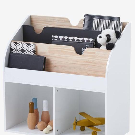Meuble de rangement 2 cases + étagère-bibliothèque LIGNE SCHOOL blanc
