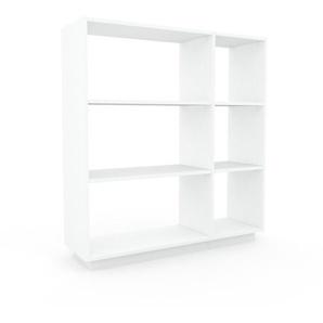 Meuble de rangements - blanc, design minimaliste, pour documents sophistiqué, fontionnel et robuste - 116 x 124 x 35 cm, personnalisable