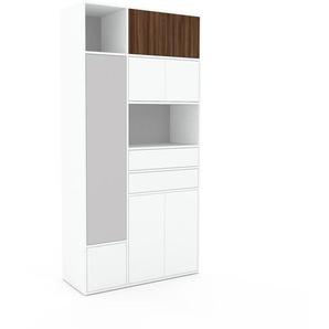 Meuble de rangements - Blanc, design, pour documents, avec porte Blanc et tiroir Blanc - 116 x 233 x 47 cm