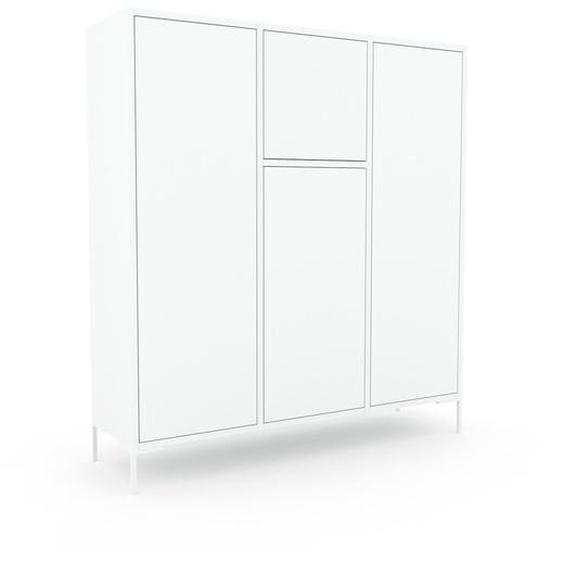Meuble de rangements - Blanc, design, pour documents, avec porte Blanc et tiroir Blanc - 118 x 130 x 35 cm