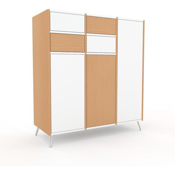 Meuble de rangements - Blanc, design, pour documents, avec porte Blanc et tiroir Blanc - 118 x 130 x 47 cm