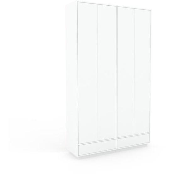 Meuble de rangements - Blanc, design, pour documents, avec porte Blanc et tiroir Blanc - 152 x 258 x 47 cm
