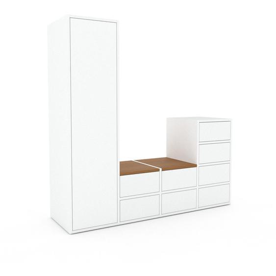 Meuble de rangements - Blanc, design, pour documents, avec porte Blanc et tiroir Blanc - 156 x 157 x 47 cm