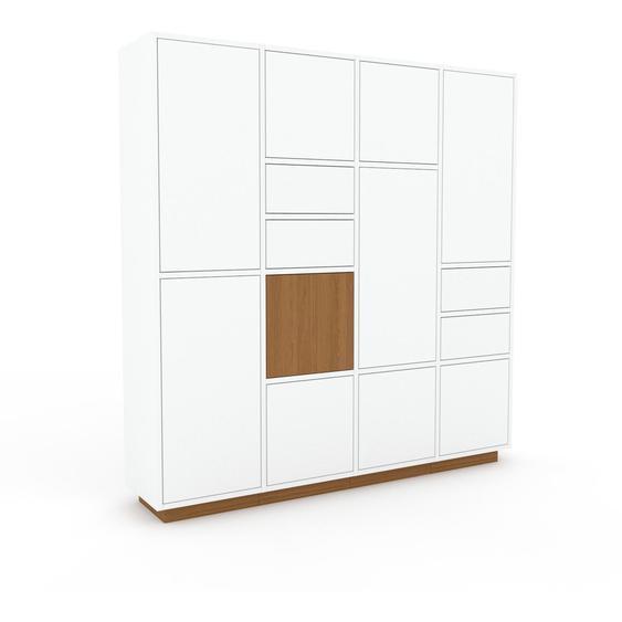 Meuble de rangements - Blanc, design, pour documents, avec porte Blanc et tiroir Blanc - 156 x 162 x 35 cm