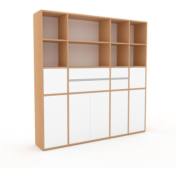Meuble de rangements - Blanc, design, pour documents, avec porte Blanc et tiroir Blanc - 193 x 195 x 35 cm