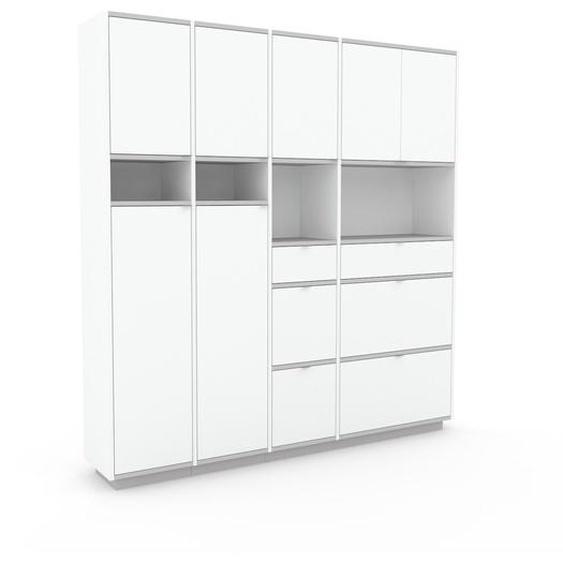 Meuble de rangements - Blanc, design, pour documents, avec porte Blanc et tiroir Blanc - 193 x 200 x 35 cm