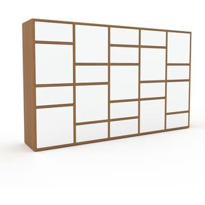 Meuble de rangements - Blanc, design, pour documents, avec porte Blanc et tiroir Blanc - 195 x 118 x 35 cm