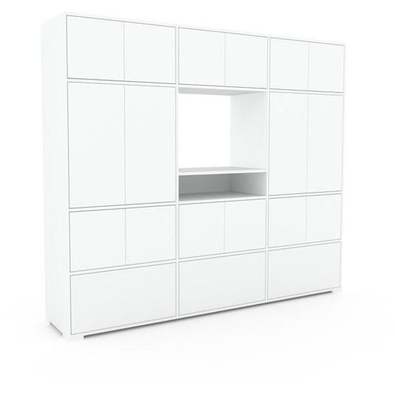 Meuble de rangements - Blanc, design, pour documents, avec porte Blanc et tiroir Blanc - 226 x 196 x 47 cm