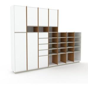 Meuble de rangements - Blanc, design, pour documents, avec porte Blanc et tiroir Blanc - 272 x 200 x 35 cm
