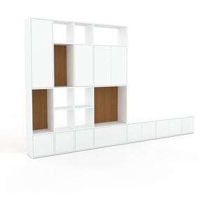 Meuble de rangements - Blanc, design, pour documents, avec porte Blanc et tiroir Blanc - 380 x 233 x 35 cm