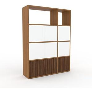 Meuble de rangements - Chêne, moderne, pour documents, avec porte Blanc - 116 x 157 x 35 cm, personnalisable