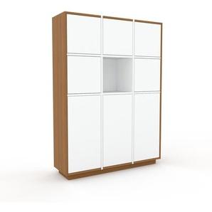 Meuble de rangements - Chêne, moderne, pour documents, avec porte Blanc - 118 x 162 x 35 cm, personnalisable