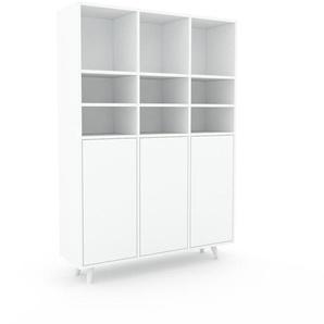 Meuble de rangements - Blanc, moderne, pour documents, avec porte Blanc - 118 x 168 x 35 cm, personnalisable