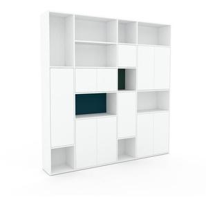 Meuble de rangements - Blanc, moderne, pour documents, avec porte Blanc - 229 x 234 x 35 cm, personnalisable