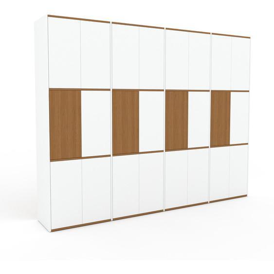 Meuble de rangements - Blanc, moderne, pour documents, avec porte Blanc - 301 x 233 x 47 cm, personnalisable